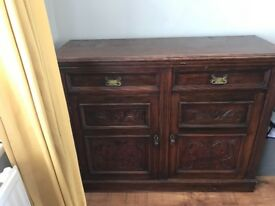 Lovely vintage sideboard ideal to shabby chic or shop counter