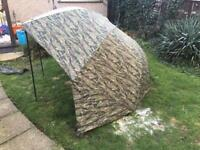 Fishing brolly bivvy