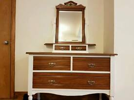 Distressed chest of drawers dressing table