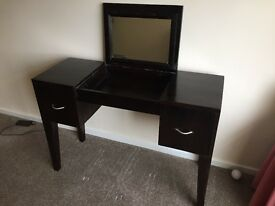 Wooden Dressing Table with Mirror. Dresser