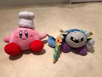 Kirby & Meta Knight plush toys