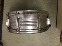 """SNARE DRUM 14"""" (360MM) CHROME With Remo top and Evans sonic 300mm GL side 6"""" deep"""