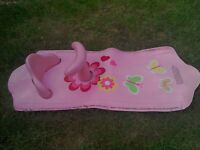 Girls Pink Bath seat & Mat
