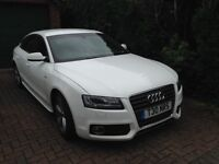 Stunning LOW MILEAGE Audi A5 tdi Sportback white