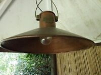 Solid copper hanging light pendant shade ceiling lamp
