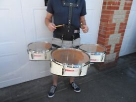 3 x marching drums.