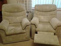 pair of G plan sofas