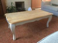 Brushed oak coffee table