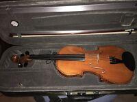 French violin c1900 and pernam burg bow