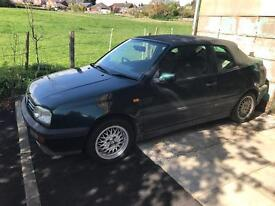 VW Golf Cabriolet 1996 N Reg 1800cc Spares or Repair