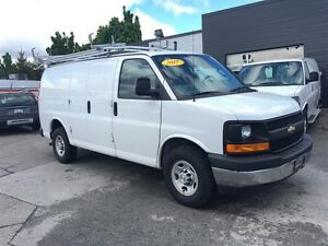 2017 Chevrolet Express 2500 shelving , cab divider ladder rack