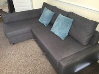 Nearly New - IKEA FRIHETEN Corner Sofa Bed - Dark Grey