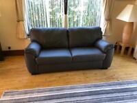 RRP £449 Unused ARGOS Milano 4 Seater 210cm Genuine Brown Leather Sofa