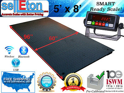 New 5 X 8 60 X 96 Industrial Heavy Duty Floor Scale 10000 Lbs X 1 Lb