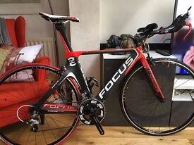 Focus Izalco Chrono 3.0 TT/triathlon/time-trial bike Ultegra components, carbon Walser frame