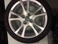 okohama 195 45 R16 full on tread nearly new for sale with alloy wheel