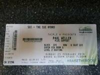 PAUL WELLER TICKETS x 2 GLASGOW