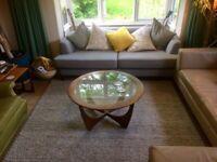 Grey wool sofa