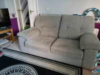 2 seater light grey sofa . FREE