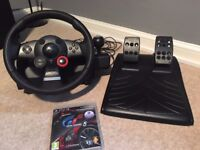 Logitech Driving Force Steering GT Racing Wheel Feedback PS2 PS3 & PC inc pedals and Gran Turismo 5