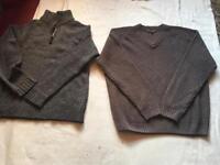 2 jumper men's sweatshirts wool size Large used £5