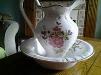 Water jug and bowl