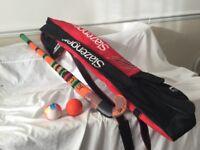 Slazenger hockey stick and Slazenger bag