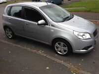 2010 60reg Chevrolet Aveo 1.2 LS Silver 97kmiles History MOTd 5door AC CD HPiClear £1195 Great Value