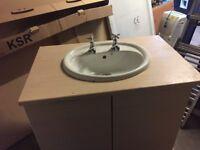 Vanity unit with sink