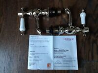 Heritage Granley Vintage Gold Basin Pillar Taps brand new in box RRP £145 sell for £70