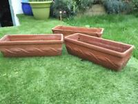 Garden Planters, Terracotta Trough Pots