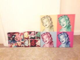 Marilyn Monroe canvas paintings