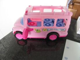 Fisher Price Little People Music, Sound & Lights Pink School Bus