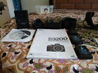 Nikon D3200 DSLR + Nikon AF-S 18-55mm + Tamron AF 70-300mm macro