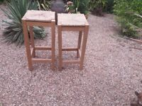 Solid Old Pine Stools.