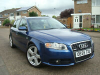 2006 AUDI A4 S-LINE QUATTRO 2.0 T FSI 200 BHP,6 SPEED MANUAL 5DR AVANT,1 FORMER KEEPER FROM NEW,FSH