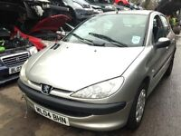 2004 Peugeot 206 1.4 S 5dr AC gold silver BREAKING FOR SPARES