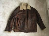 Mens leather flying jacket