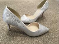 Ivory White diamanté stiletto high heel court shoes - size36/3 ideal for wedding