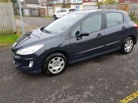2008 Peugeot 308 1.6 HDi S 5dr Manual Low Mileage 30£RoadTax @07445775115 30£+TAX+Low+Miles+Warrant