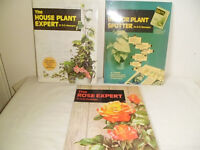 3 BOOKS ABOUT HOUSE PLANTS BY DR D.G.HESSAYON
