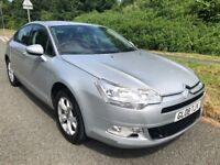 CITROEN C5 1.6 HDI VTR+ 08 REG IN SILVER WITH BLACK TRIM,SERVICE HISTORY AND MOT JUNE 2019