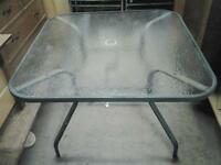 Patio glass table 30.00