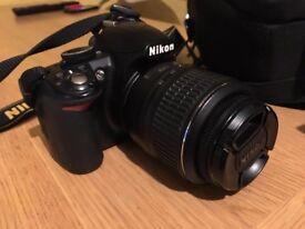 NIKON D3100 DLSR + 18-55 LENS + BAG (PERFECT CONDITIONS!)