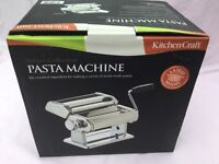 PASTA MAKER. BRAND NEW AND BOXED. KITCHEN CRAFT MAKE WITH DUO CUTTER AND CLAMP.