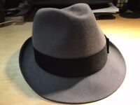 Christys' Kent handmade fur felt trilby hat (silver grey)