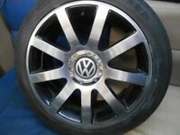 "18"" VOLKSWAGEN ALLOY WHEELS / NEW TYRES - VOLKSWAGEN T4 ETC"