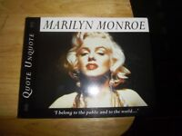 MARILYN MONROE QUOTE UNQUOTE BOOK