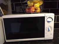 LIKE NEW Microwave Oven 700w 17L white. Can deliver. From a clean smoke and pet free home