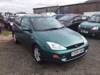 FORD FOCUS RARE 1400 cc ENGINE 3 DOIR HATCHBACK N VGCINDITION LONG MOT LOVELY DRIVER ANY TRIAL PX.?